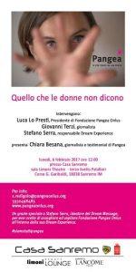 Quello che le donne non dicono - Talk Show a cura di Pangea Onlus @ Limoni Theatre - Terzo Livello Palafiori