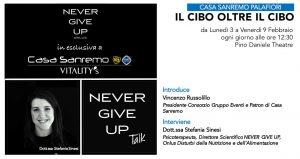 NEVER GIVE UP TALK - IL CIBO OLTRE IL CIBO @ Pino Daniele Theatre