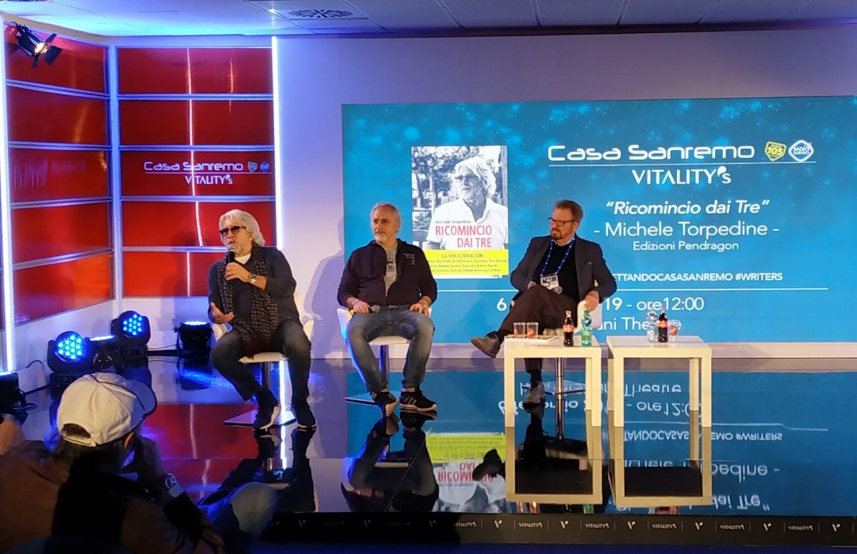 A Casa Sanremo Ricomincio dai tre, il libro del manager e produttore musicale Michele Torpedine