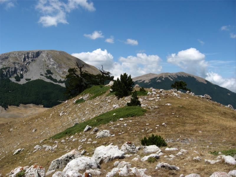 Monte Pollino e Serra del Prete dal contrafforte ovest di Serra delle Ciavole