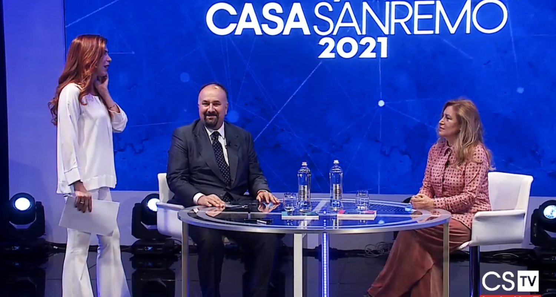 Grazia Di Michele e Diego Righini a Buongiorno Sanremo
